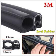3M Steel Belt Rubber Seal Strip Car Doors Edge Protect Dustproof Weatherstrip