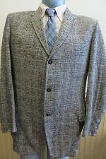Vintage 50s Flecked Tweed Mens 44 Three Button Sportcoat Jacket