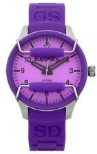 Superdry Ladies Scuba Purple Bracelet Strap Watch RRP £79. 10ATM Water Resistant