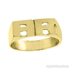 Personalized Initial Ring - Name Ring Unisex Block Style 6mm Sterling Silver