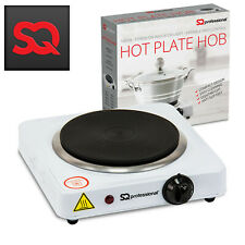 SQ Hot Plate 1000W Single Electric Table Top Cooker Hob Portable White