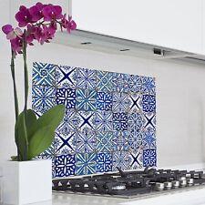 Spritzschutz Folie Wandschutz Klebefolie Küche Bad blaue Fliesen Fliesenoptik