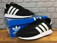 ADIDAS MENS N 5923 UK 8 EU 42 WHITE BLACK MESH TRAINERS RRP £75 LG
