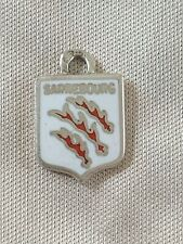 SARREBOURG Silver Travel Shield Enamel Charm
