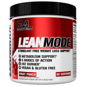 Evlution Nutrition LeanMode Powder Stimulant-Free Fat burner | Vegan/Gluten Free