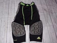 Adidas Men M black Neon Green compression Climacool Padded Football Girdle Pants