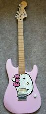 More details for hello kitty pink guitar fender squier limited edition