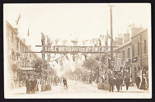 RPPC Real Photo Postcard Skegness Battle Flowers banner above Lumley Road 1905