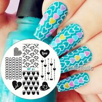 BORN PRETTY Nail Art Stamp Template Love Heart Design Image Stamping Plate BP61