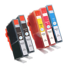 5* PACK 564XL BK+CMY+Photo New CHIP + INK LEVEL 564 Ink Cartridge for HP Printer