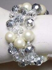 Cezanne Bracelet Toggle Clasp  Sensitive Skin Crystal Rhinestone Silver ChainNEW