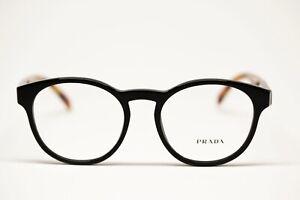 Prada  PR16T BLACK EYEGLASSES   New Authentic 50