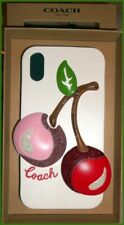 NWT COACH IPHONE XR CASE WITH OVERSIZED CHERRY (PAC-MAN) F75858