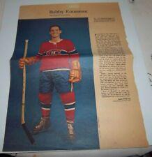 Bobby Rousseau  # 1 Weekend  Magazine Photos 1963-64  Toronto Star lot 4