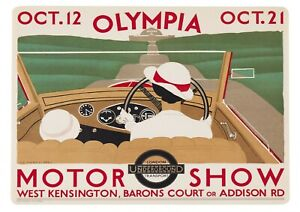 """Reproduction Vintage """"Olympia Motor Show"""" London Underground Poster"""