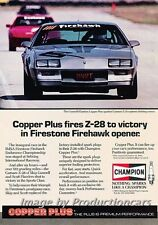 1985 Chevrolet Camaro Z28 Champion Original Advertisement Print Art Car Ad J750