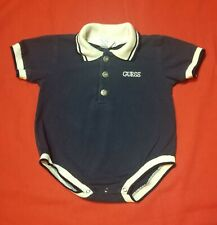 Guess Jeans BABY GUESS Boys 6 Months One Piece Short Romper Polo Collar Style