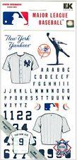 New York Yankees MLB Baseball Scrapbook Jersey Flat Sticker personalize