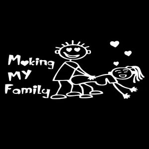 1x Car White *aking My Family Decor Decal Sticker For Windshield Bumper Door New