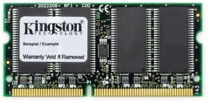 256MB Kingston PC100 Sdram 100MHz 144pin so-Dimm KTT-SO100/256 Toshiba PA3069U