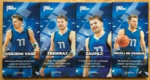SLOVENIA 4 X 90g CHOCOLATE LUKA DONCIC NBA DALLAS MAVERICKS STICKERS
