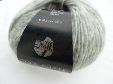 NEU: Cool Air fine 50g Lana Grossa feinste Merinowolle Farbe Fb. 012 hellgrau