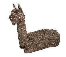 More details for alpaca sitting bronze figure frith sculpture vb011 veronica ballan ornament