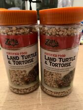 2 Packs New Zilla Fortified Land Turtle & Tortoise Food 6.5oz Reptile Terrarium