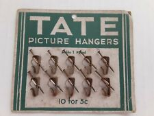 Full Card of 10 Tate Picture Hangers 1 Pound Weight Vintage c1940's-50's Rare