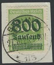 Deutsches Reich 1923 DR INFLA Berlin, MiNr. 307 A, gestempelt 800 Tsd auf 500 M