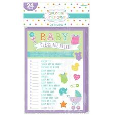 24 SHEETS BABY SHOWER PARTY GUESS THE PRICE GAME  FUN AND GAMES PARTY SUPPLIES