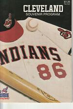 1986  Cleveland Indians Program vs Minnesota Twins (8/19)