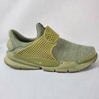 Nike Sock Dart BR Mens Sz 12 909551-200 Trooper Green Laceless Running Shoes