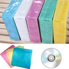 100Pcs CD DVD Double Sided Cover Storage Case PP Bag Sleeve Envelope Holder  FE