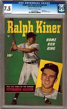 RALPH KINER #NN CGC 7.5 RARE PHOTO COVER 5TH BEST CGC COPY  CR/OW PGS 1950