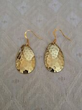 New Hammered Brass Earrings Gold In Color Lightweight 1.5 Grams *Free Shipping*