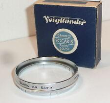 VINTAGE VOIGTLANDER 54mm FOCAR B CLOSE UP FILTER, BOXED ( 344 / 54 ) .