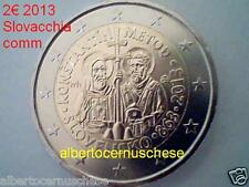 2 euro 2013 fdc SLOVACCHIA Slovaquie Slovakia Slovensko Metod Moravia Словакия