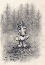 The Tale of Tales Norstein's Animation Original Drawing (Little Wolf with Baby)