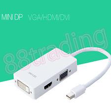 MINI DISPLAY PORT THUNDERBOLT DP TO HDMI TV VGA DVI CABLE ADAPTER CONVERTOR 2