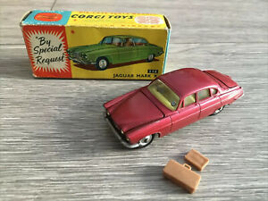 Corgi Toys 238 - Jaguar Mark X Saloon With Suitcases - Original Box