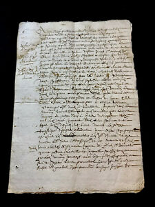 WATERMARKED MANUSCRIPT 1656   4 pages