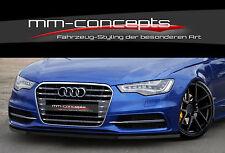 Cup Spoilerlippe Audi S6 + A6 4G C7 S-Line Frontspoiler Frontschwert Frontlippe