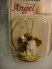 Beagle dog Angel Ornament Figurine Hand Painted Statue New Christmas puppy Hound
