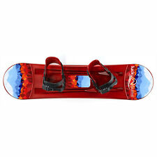 Lucky Bums 95 CM Youth Plastic Snowboard with Adjustable Bindings, Red (Used)