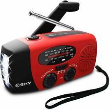 Portable Emergency Weather Radio Hand Crank Solar Powered AM/FM/NOAA Radios