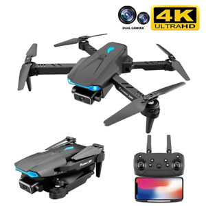 4K Wifi FPV HD Dual Camera 50x Zoom Height Maintain Headless Rc Quadcopter Drone