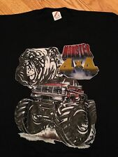Vtg 80s Monster Truck t shirt NOS Ford 4x4 Racing Hot Rod OFF ROAD sz L Bulldog