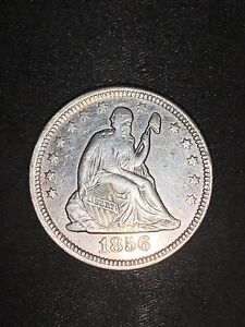 1856 Silver Seated Liberty Quarter
