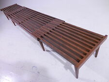 Iconic 50's Brown Saltman Adjustable Slat Bench Mid Century Modern Laszlo/Keal